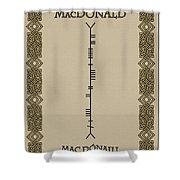 Macdonald Written In Ogham Shower Curtain