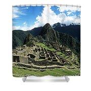 Machu Picchu Panorama Shower Curtain