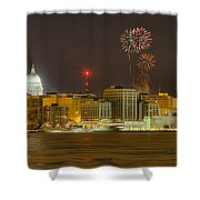 Madison New Years Eve Shower Curtain