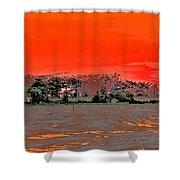 Louisiana Sunset Of The Madisonville Lighthouse  Shower Curtain