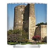 Maidens Tower In Baku Azerbaijan Shower Curtain