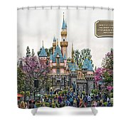 Main Street Sleeping Beauty Castle Disneyland 01 Shower Curtain