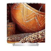 New Orleans Maize The Indian Corn Still Life In Louisiana  Shower Curtain