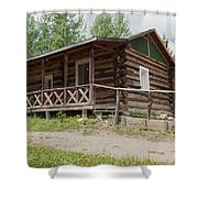 Mamma Cabin At The Holzwarth Historic Site Shower Curtain