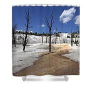 Mammoth Hot Spring Area Shower Curtain