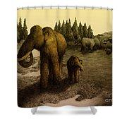 Mammoths Shower Curtain