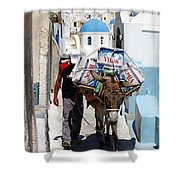Man And His Pack Mule Shower Curtain