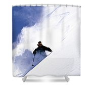 Man Skiing In Colorado Shower Curtain