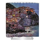 Manarola At Dusk Shower Curtain