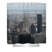 Manhattan From The Empire State Building Shower Curtain