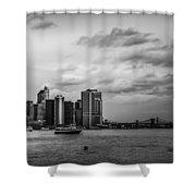 Manhattan Skyline Right Triptych Shower Curtain