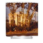 Mansion Landscape Shower Curtain