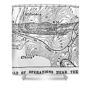 Map Panama Canal, 1885 Shower Curtain
