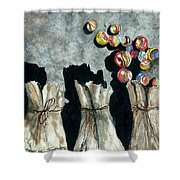 Marble Bags Shower Curtain