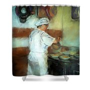 Marcellos Wife Shower Curtain