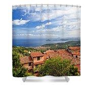 Marciana Village - Elba Island Shower Curtain