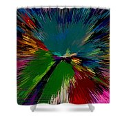 Mardi Gras Abstract Shower Curtain