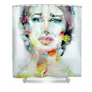 Maria Callas - Watercolor Portrait.2 Shower Curtain
