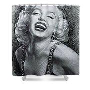 Marilyn Monroe Shower Curtain by Viola El