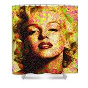 Marilyn Monroe - Maple Leaves Shower Curtain