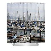 Marina San Francisco Shower Curtain