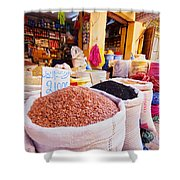 Market In Fes In Morocco Shower Curtain