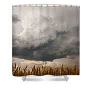 Marshmallow - Bubbling Storm Cloud Over Wheat In Kansas Shower Curtain