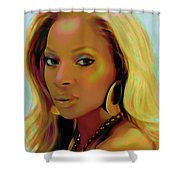 Mary J Blige Shower Curtain