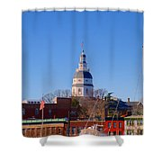 Maryland State House Dome Shower Curtain