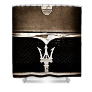 Maserati Hood - Grille Emblems Shower Curtain