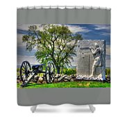 Massachusetts At Gettysburg - 1st Andrews Sharpshooters Unattached Mass. Vol. Infantry Hancock Ave Shower Curtain