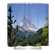 Matterhorn In Zermatt Shower Curtain