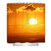 Maui Kulamalu Sunset  Shower Curtain