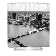 Maumee River Toledo Ohio Shower Curtain