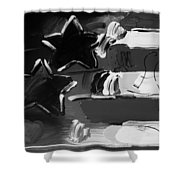 Max Americana In Black And White Shower Curtain
