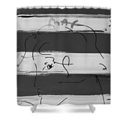 Max Women In Black And White Shower Curtain