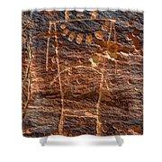 Mckee Springs Petroglyph - Utah Shower Curtain