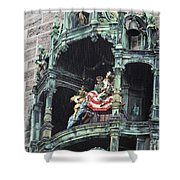 Mechanical Clock In Munich Germany Shower Curtain