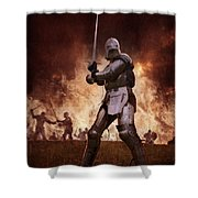 Medieval Knights In Battle Shower Curtain