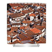 Medieval Town Rooftops Shower Curtain by Jose Elias - Sofia Pereira