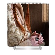 Medieval Tudor Woman With Red Hair  Shower Curtain
