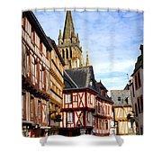 Medieval Vannes France Shower Curtain