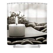 Meditation Candle Shower Curtain