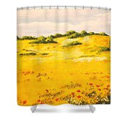 Mediterranean Landscape Shower Curtain