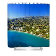 Mediterranean Sea From The Air Shower Curtain