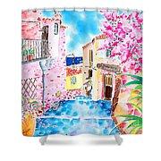 Mediterranean Wind Shower Curtain