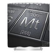 Meitnerium Chemical Element Shower Curtain