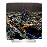 Melbourne At Night Vi Shower Curtain
