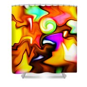 Melting Colors Shower Curtain