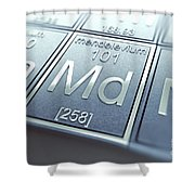 Mendelevium Chemical Element Shower Curtain